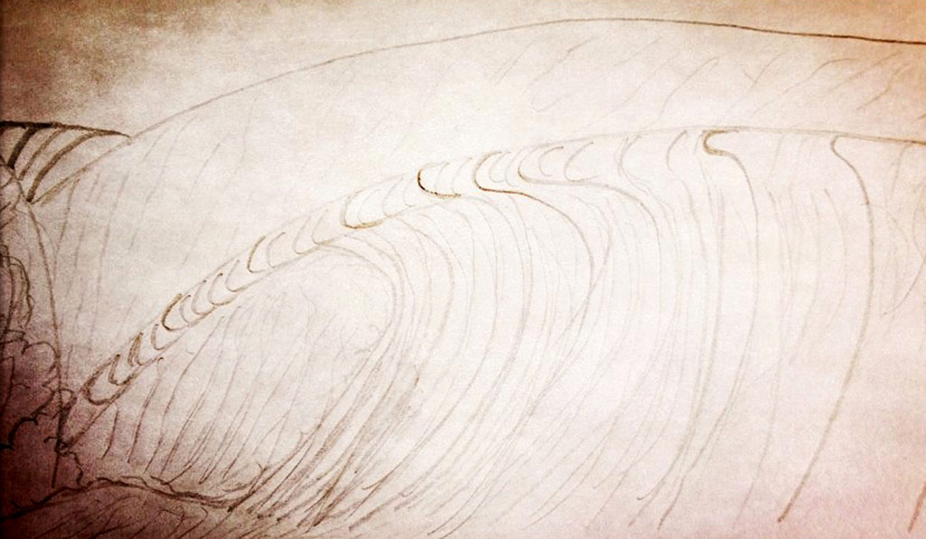 doodle of a wave