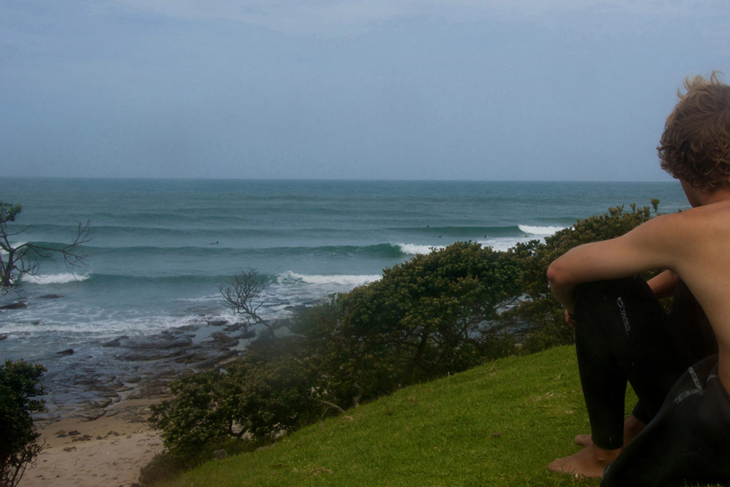 my friend Troy overlooking the surf